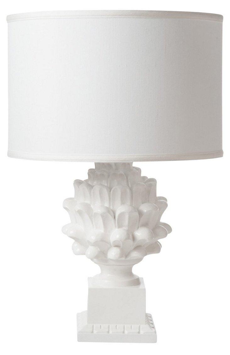 Artichoke Table Lamp, Gloss White