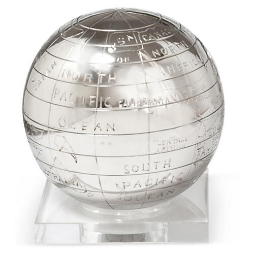 "6"" Globe on Lucite Base"