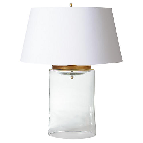 Cylinder Table Lamp, Clear