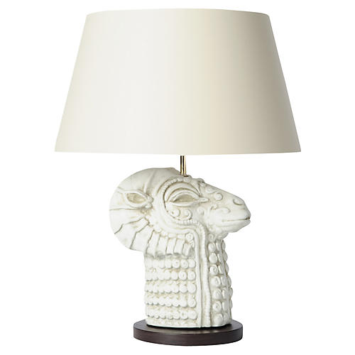 Mythic Llama Table Lamp, Stone