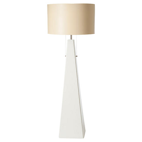 Pyramid Floor Lamp, White