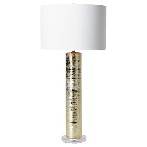 Spun Table Lamp, Gold