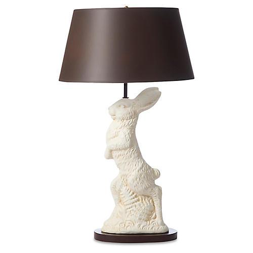 Big Bunny Table Lamp, Ivory
