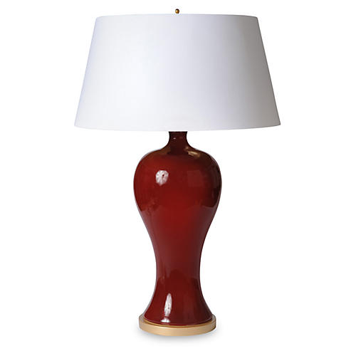Yuan Vase Table Lamp, Oxblood