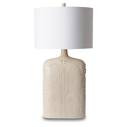 Croc Table Lamp, Off-White