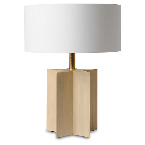 Petite Star Cut Table Lamp, Driftwood