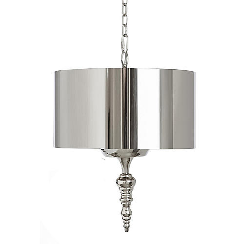 Finial Pendant, Polished Nickel