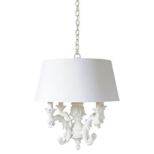 Timeless Chandelier, White