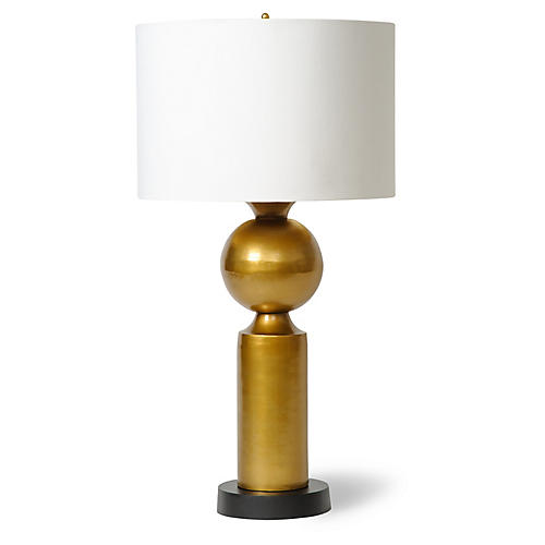 Brass Orb Table Lamp, Brass