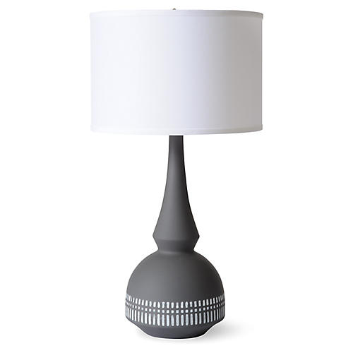 Tribal Table Lamp, Matte Charcoal