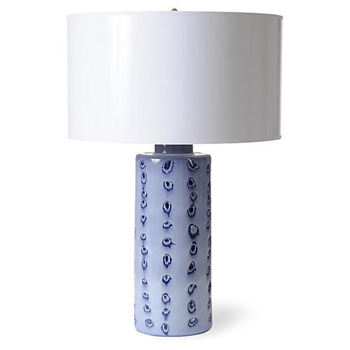 Spots Table Lamp, Blue/White