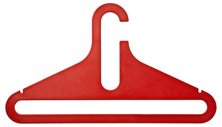 Set of 5 Hangers, Red