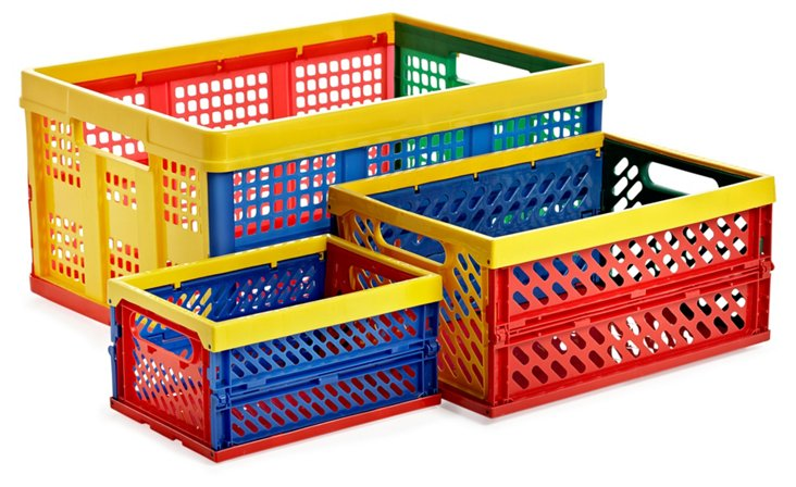 Set of 3 Collapsible Folding Crates