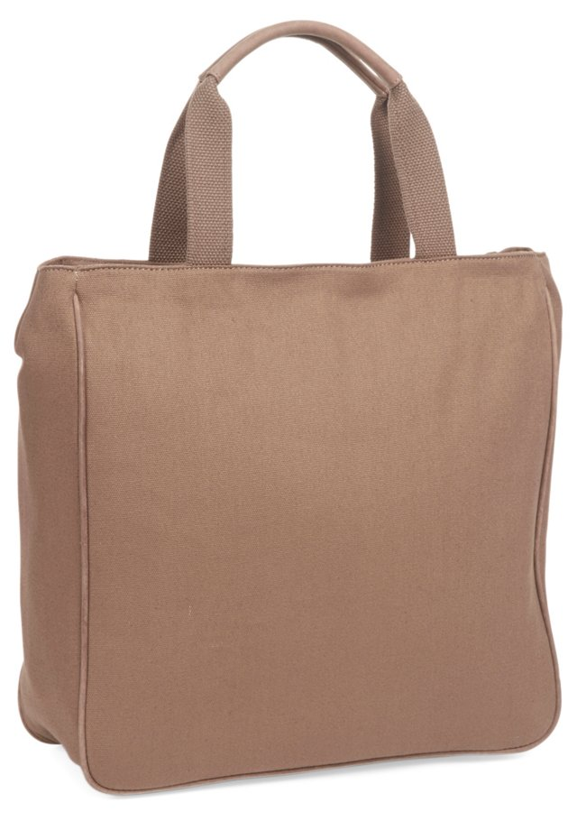 North/South Tote, Beige