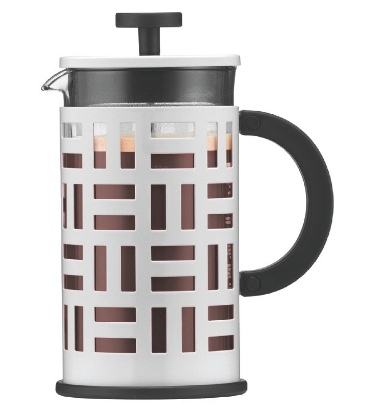 8-Cup Geometric Coffeemaker, White