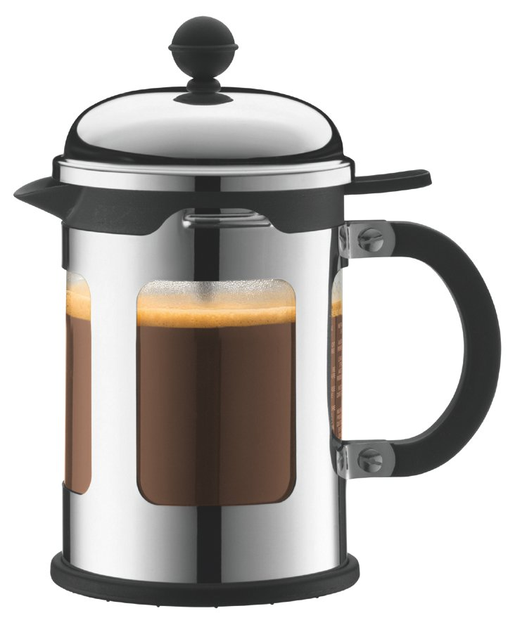4-Cup French Press, Silver