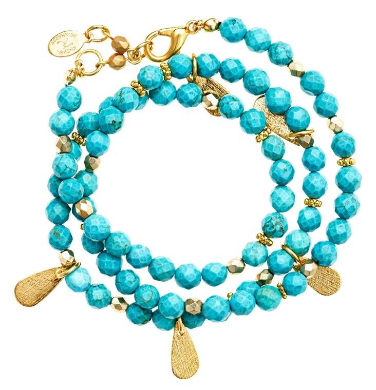 Bermuda Blue Wrap Bracelet