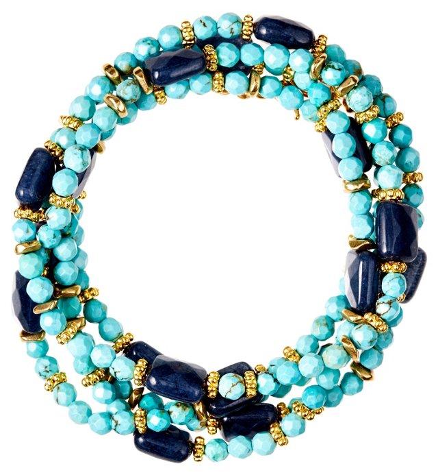 Turquoise & Blue Jade Bracelet