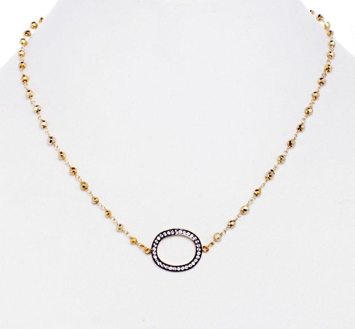 White Topaz Eternity Necklace