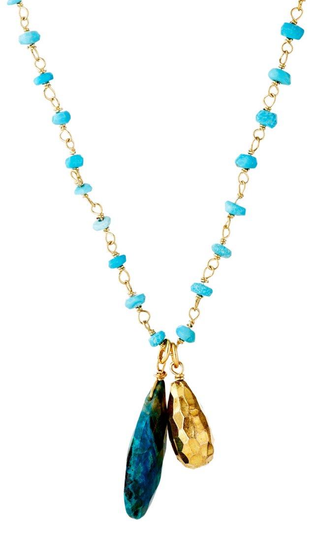 Turquoise Teardrop Pendant Necklace