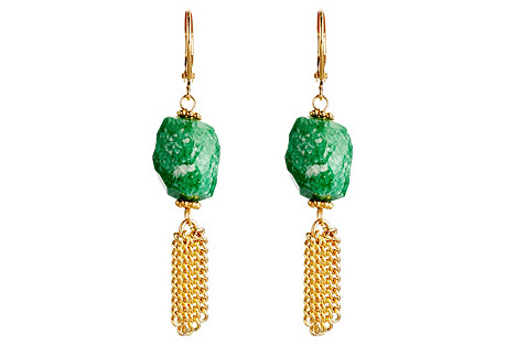 Russian Amazonite Tassel Earrings