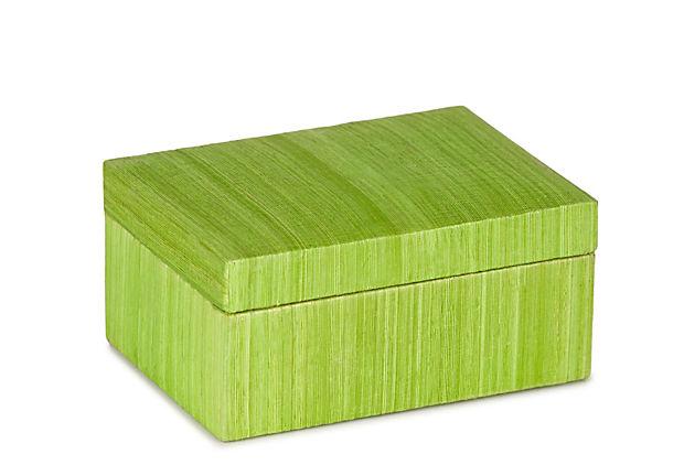 Sorbet Silk Box, Lime Green