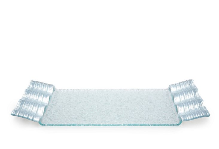 Silver Wave Rectangular Tray