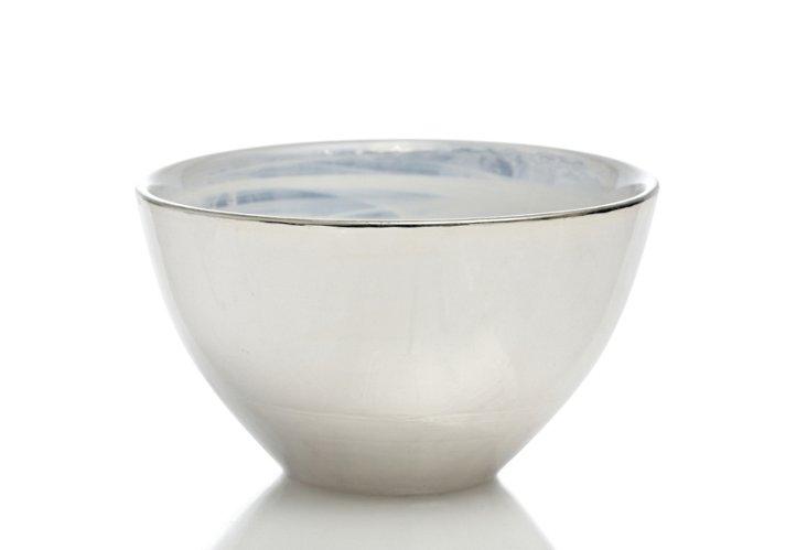 "White Glamour Bowl, 5.75"""