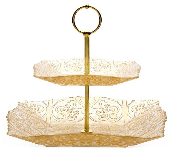 2-Tier Guinnevere Platter, Gold