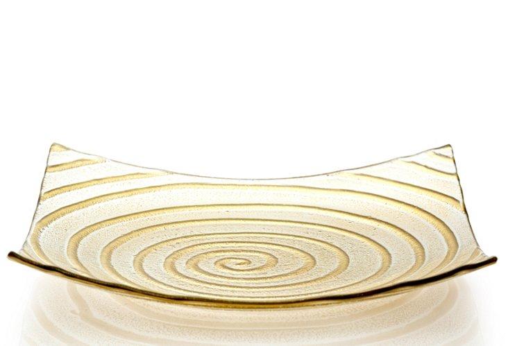 Monique Square Plate, Medium Gold