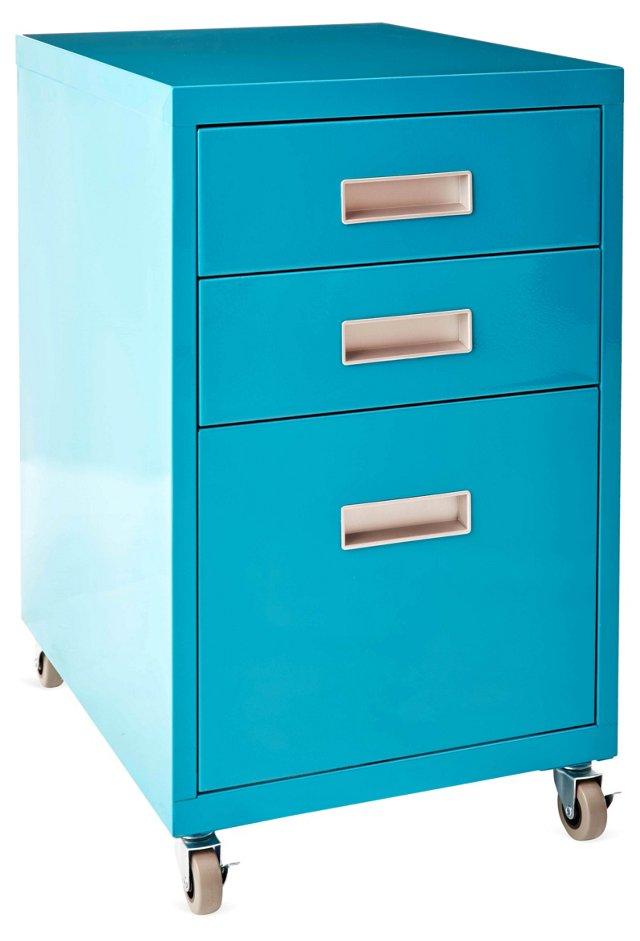 Kane Filing Cabinet, Turquoise