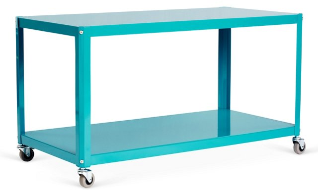 Hutter Media Stand, Turquoise