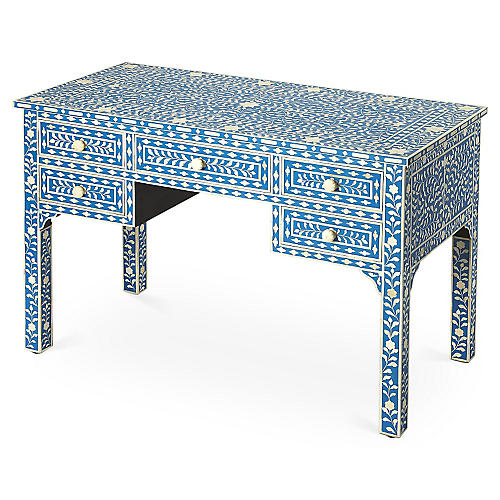 Designer exclusive desks desks for your home office or den bone inlay 50 desk bluewhite publicscrutiny Choice Image