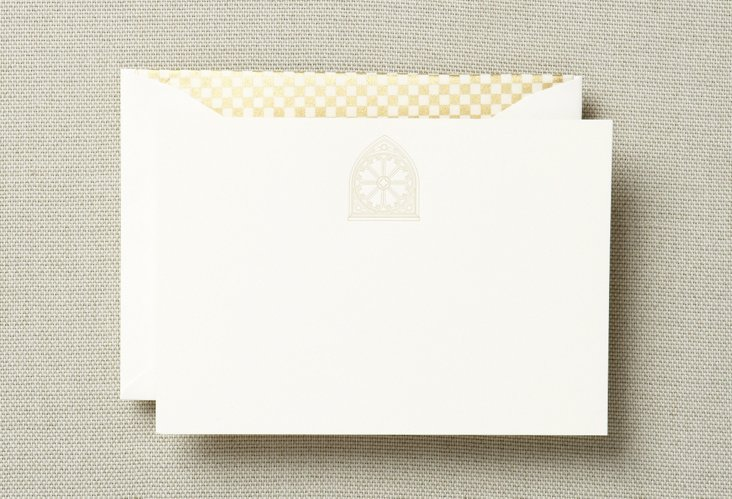 Set of 12 Rose Window Note Cards