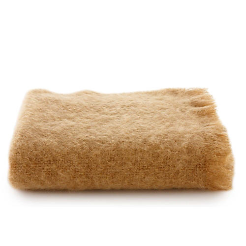 Mohair Throw, Pebble