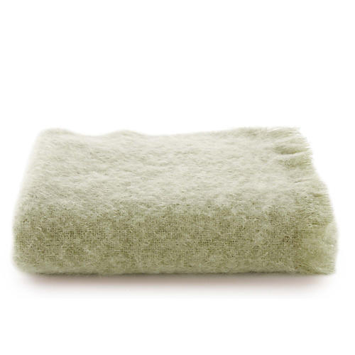 Mohair Throw, Avocado