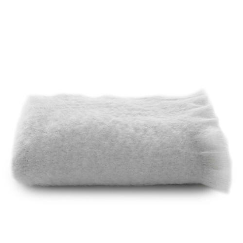 Mohair Throw, White