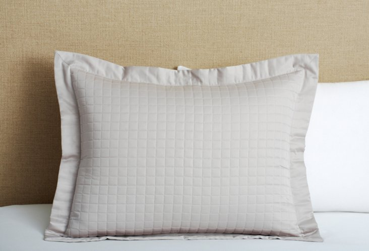 Cotton Quilted Sham, Dove