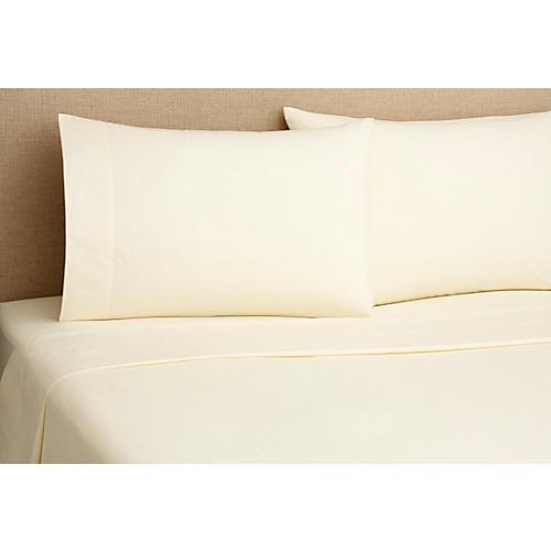 Percale Sheet Set, Cream