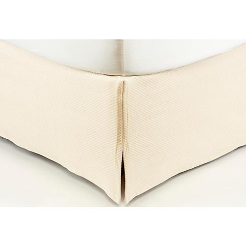 Isabel Bed Skirt, Ecru