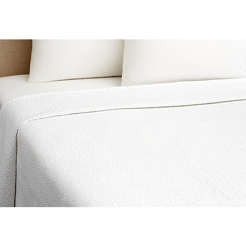 Vermicelli Coverlet, White