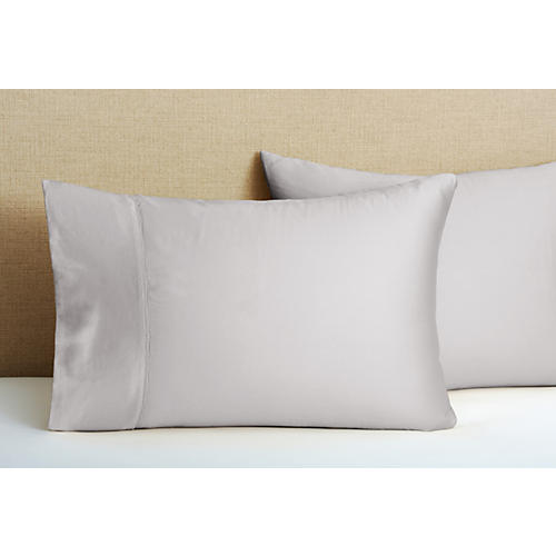 S/2 Hem Stitch Pillowcases, Dove