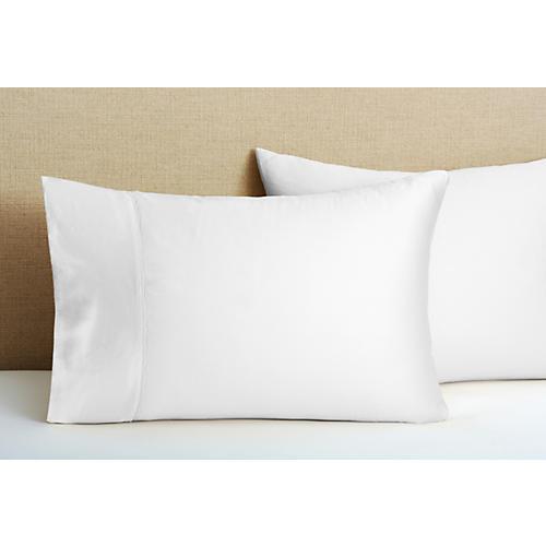 420TC Hem Stitch Pillow Case, White