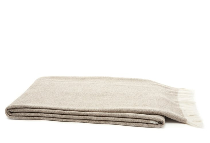 Cashmere Heathered Throw, Brown