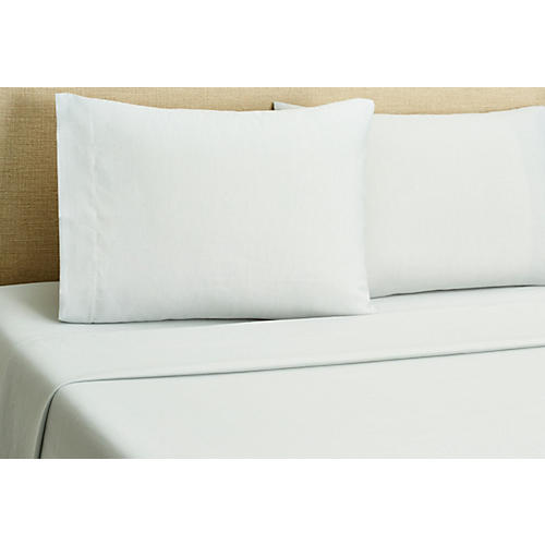 Misto Linen Sheet Set, Light Blue