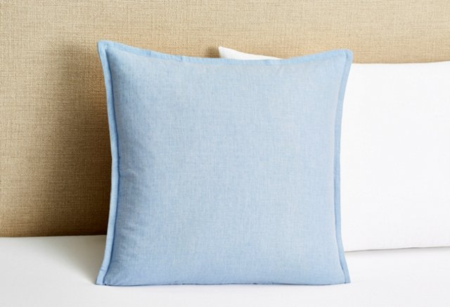 Serenity Pillow, Smooth Blue