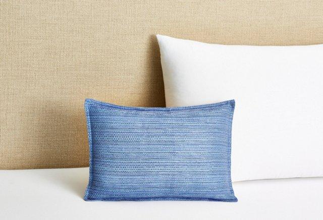 12x16 Serenity Pillow, Shinning Blue
