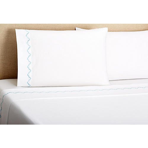 Francesa Scalloped Sheet Set, Lt Bl