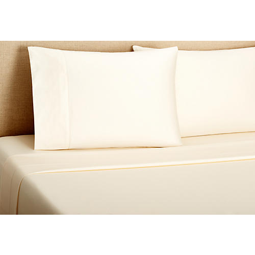 Hemstitch Sheet Set, Champagne