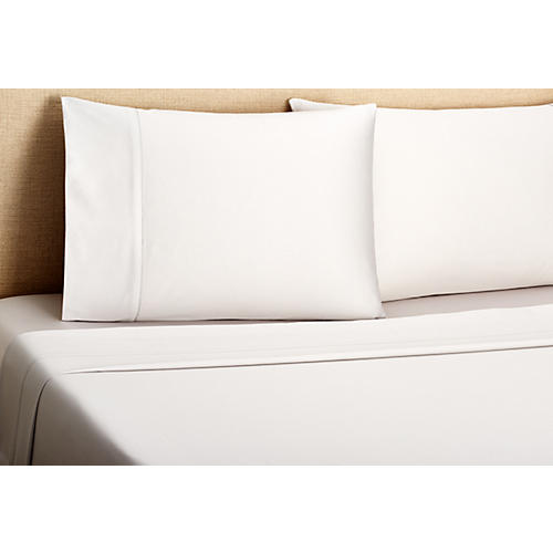 Hemstitch Sheet Set, Dove